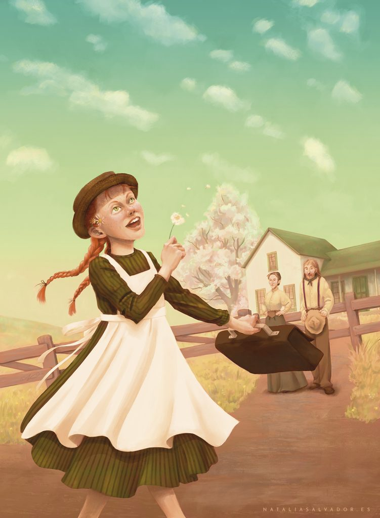 Anne of Green Gables illustration by Natalia Salvador