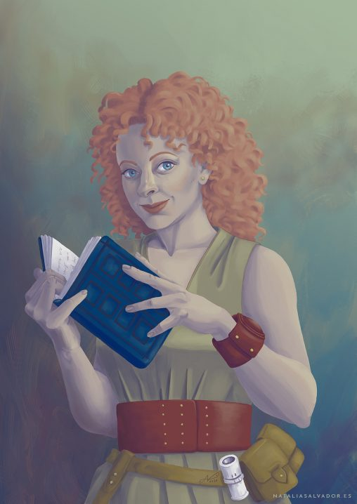 River Song's Diary digital illustration by Natalia Salvador